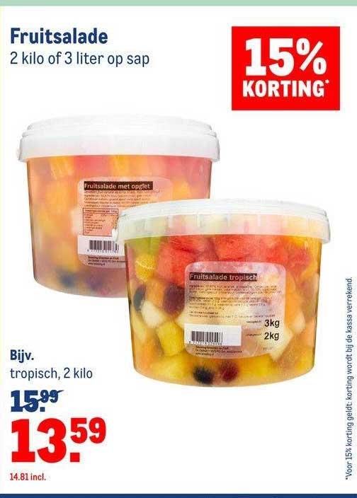 Makro Fruitsalade 15% Korting