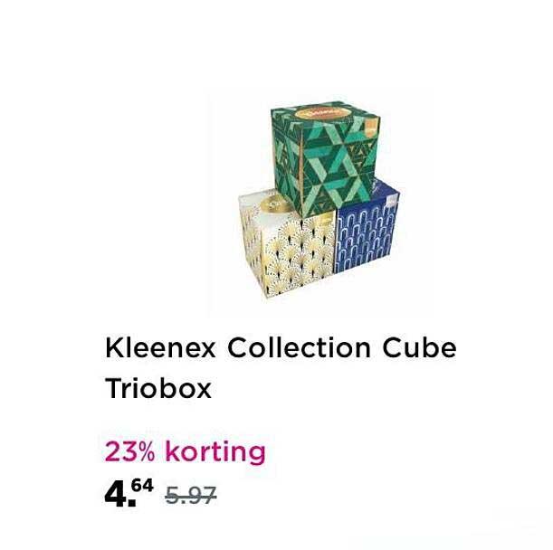 Plein Kleenex Collection Cube Triobox 23% Korting