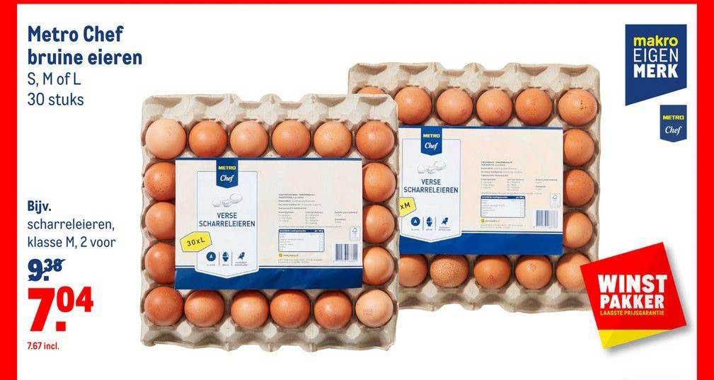 Makro Metro Chef Bruine Eieren
