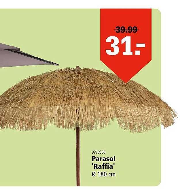 Marskramer Parasol 'Raffia' Ø 180 Cm
