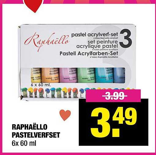 Big Bazar Raphaëllo Pastelverfset