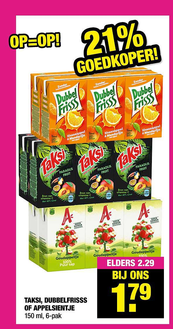 Big Bazar Taksi, Dubbelfrisss Of Appelsientje