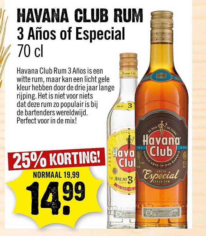 Dirck III Havana Club Rum 25% Korting