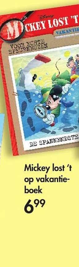 The Read Shop Mickey Lost 't Op Vakantie-boek