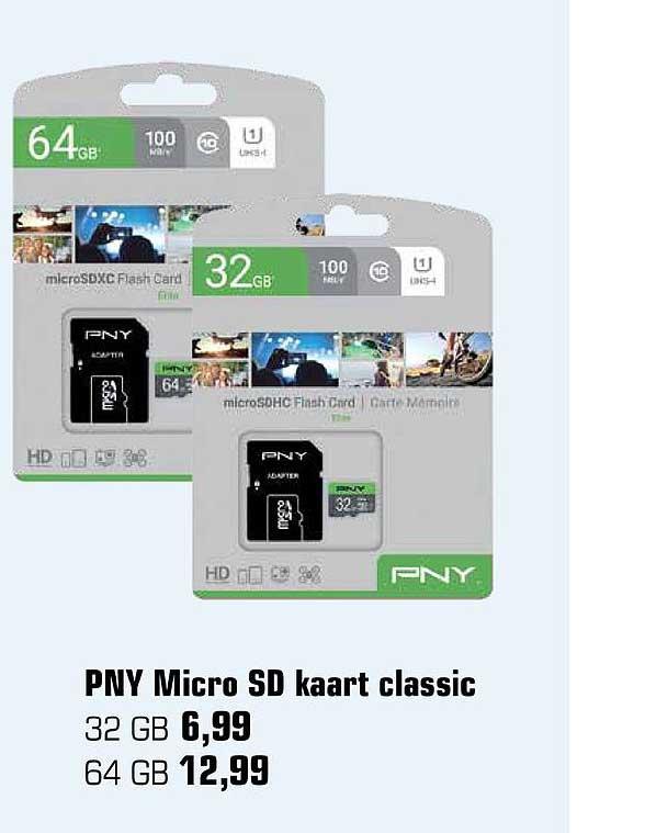 Primera PNY Micro SD Kaart Classic
