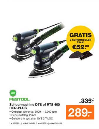Bouwmaat Schuurmachine Dts Of Rts 400