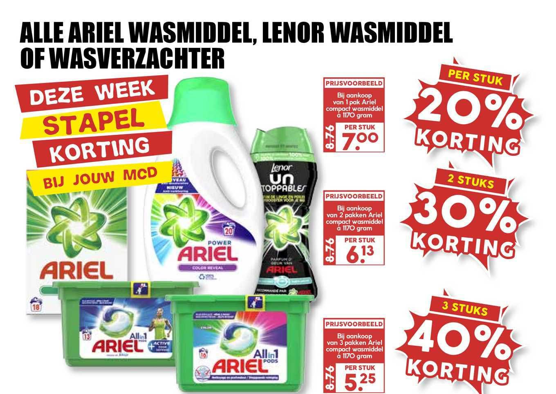 MCD Supermarkt Alle Ariel Wasmiddel, Lenor Wasmiddel Of Wasverzachter