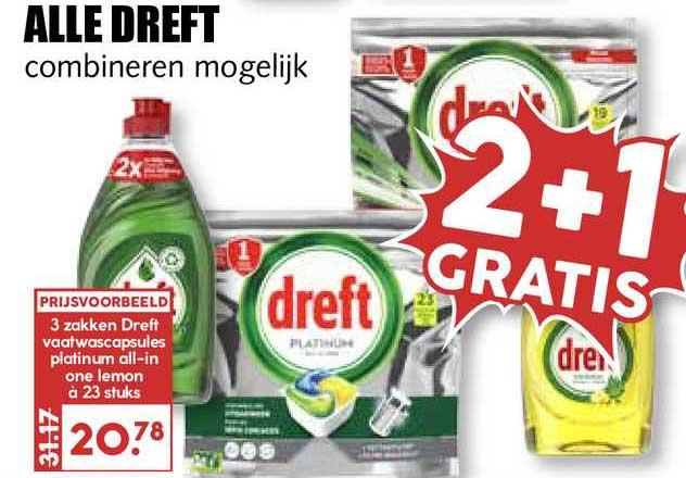MCD Supermarkt Alle Dreft 2+1 Gratis