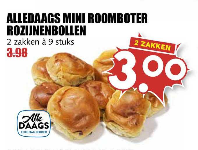 MCD Supermarkt Alledaags Mini Roomboter Rozijnenbollen
