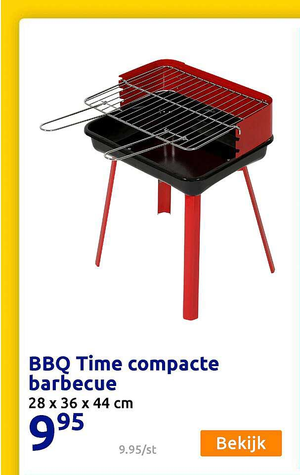Action BBQ Time Compacte Barbecue 28 X 36 X 44 Cm
