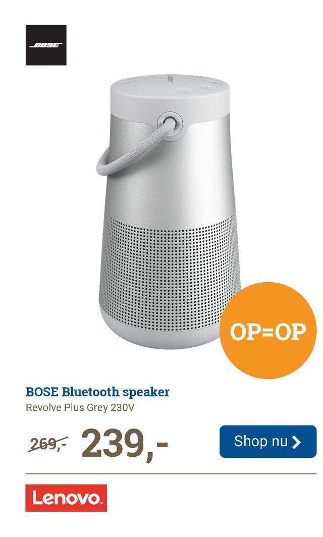 BCC Bose Bluetooth Speaker Revolve Plus Grey 230V