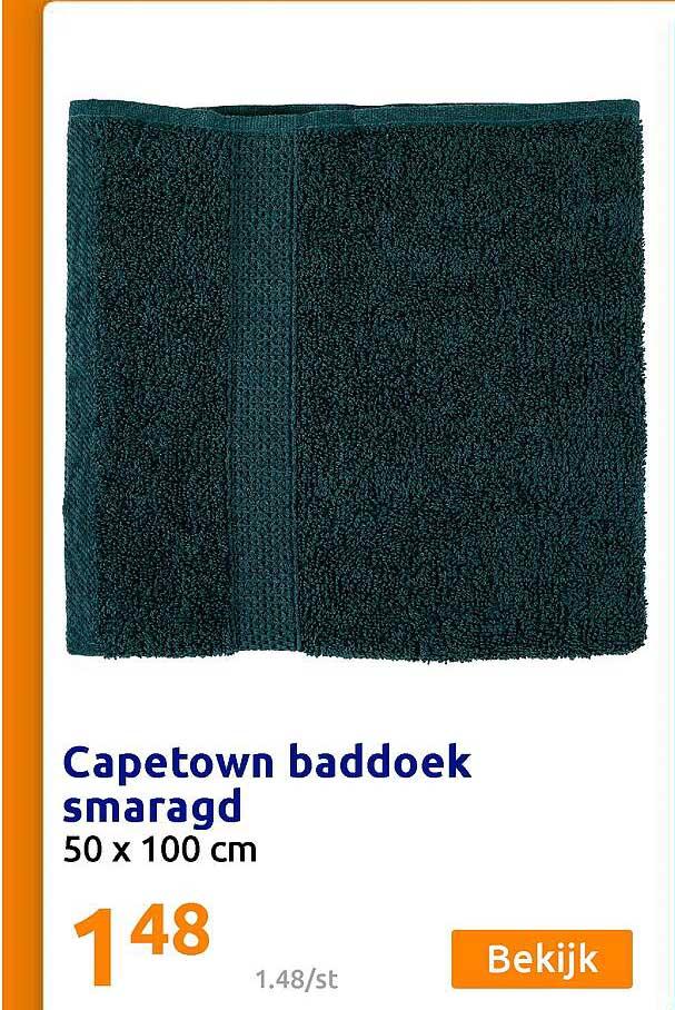 Action Capetown Baddoek Smaragd 50 X 100 Cm