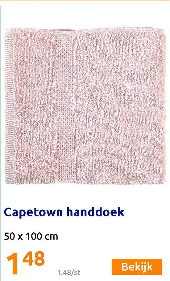 Action Capetown Handdoek 50 X 100 Cm