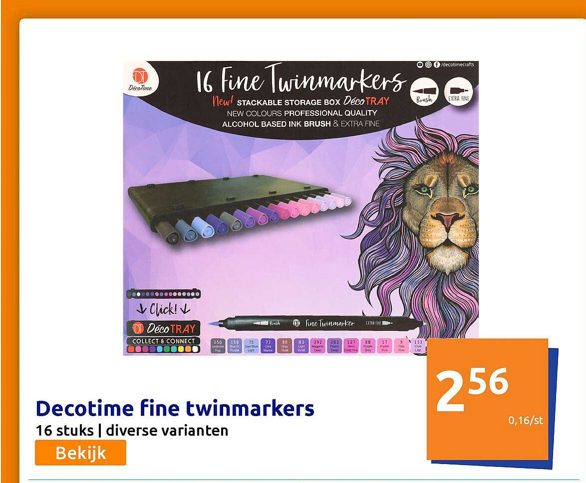 Action Decotime Fine Twinmarkers