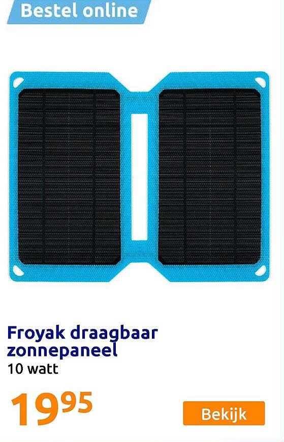 Action Froyak Draagbaar Zonnepaneel 10 Watt