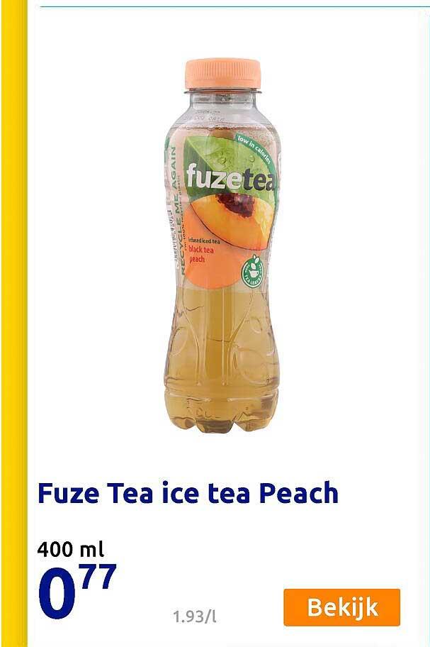 Action Fuze Tea Ice Tea Peach 400 Ml