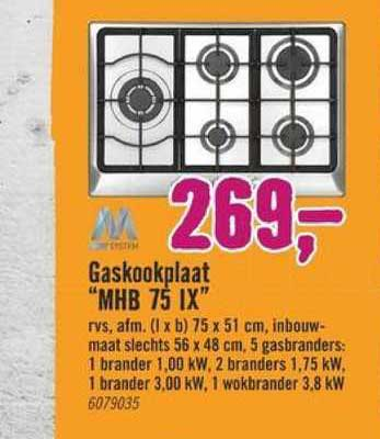 Hornbach Gaskookplaat