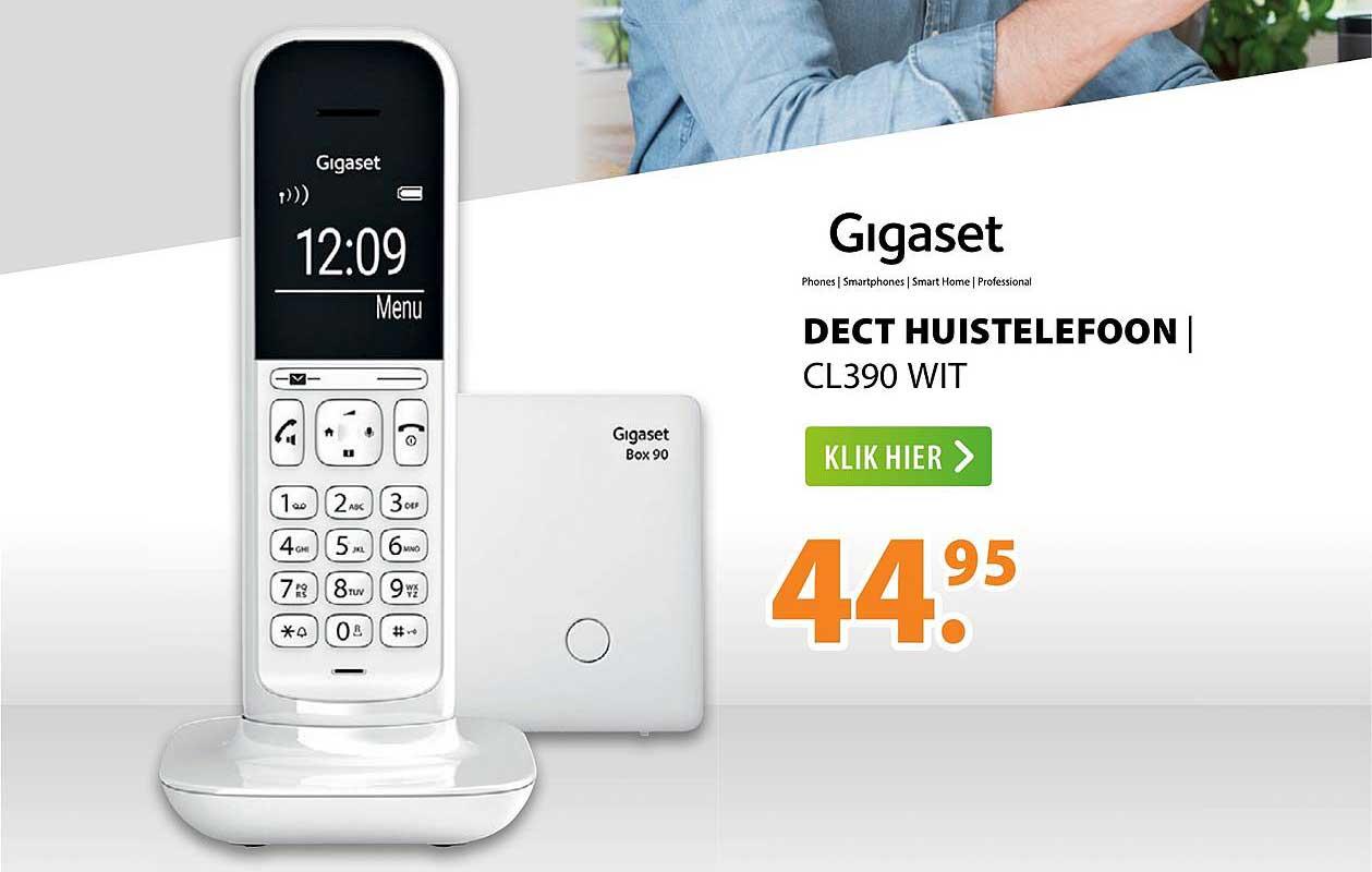 Expert Gigaset Dect Huistelefoon | CL390 Wit