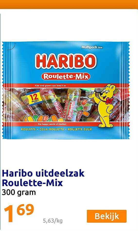 Action Haribo Uitdeelzak Roulette-Mix