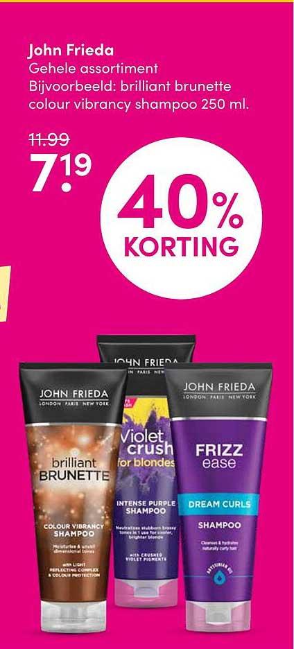 DA John Frieda 40% Korting