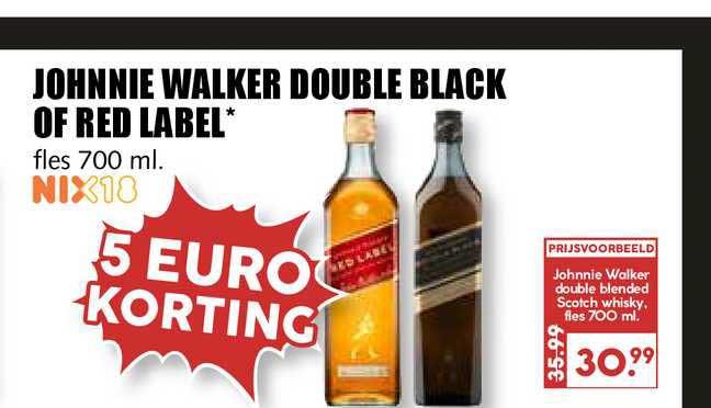 MCD Supermarkt Johnnie Walker Double Black Of Red Label