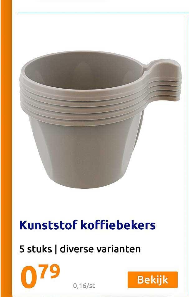 Action Kunststof Koffiebekers 5 Stuks