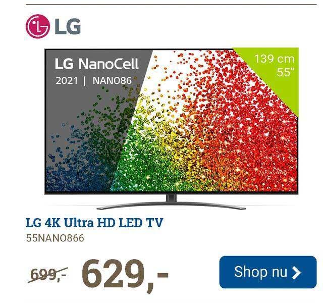 BCC LG 4K Ultra HD LED TV 55NANO866