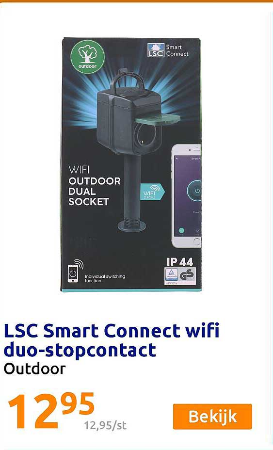 Action LSC Smart Connect Wifi Duo-Stopcontact Outdoor
