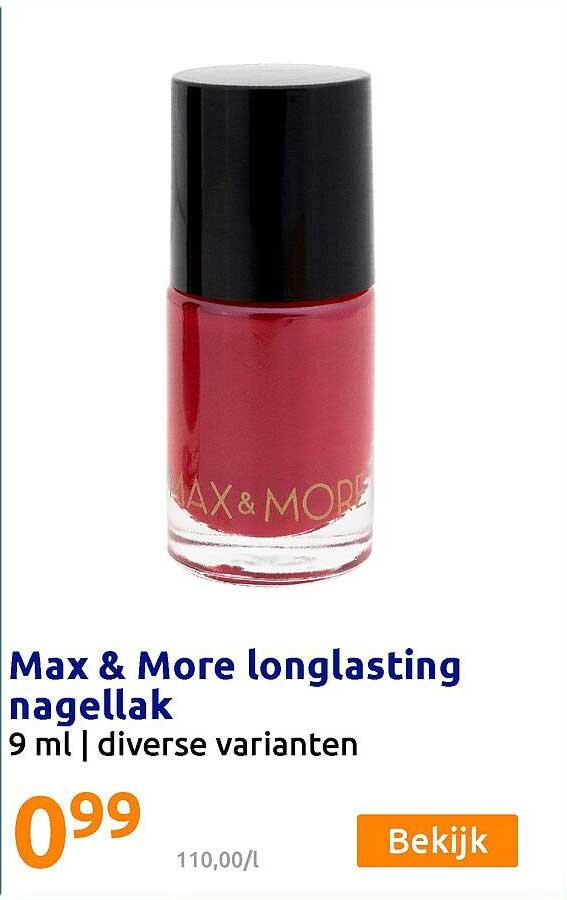 Action Max & More Longlasting Nagellak 9 Ml