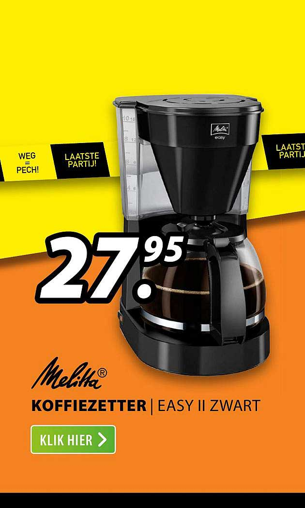Expert Melitta® Koffiezetter | EASY II Zwart