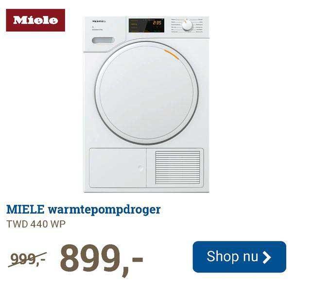BCC Miele Warmtepompdroger TWD 440 WP