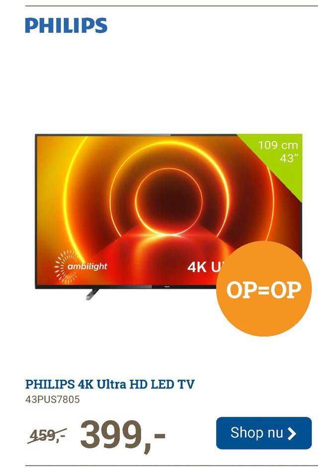 BCC Philips 4K Ultra HD LED TV 43PUS7805
