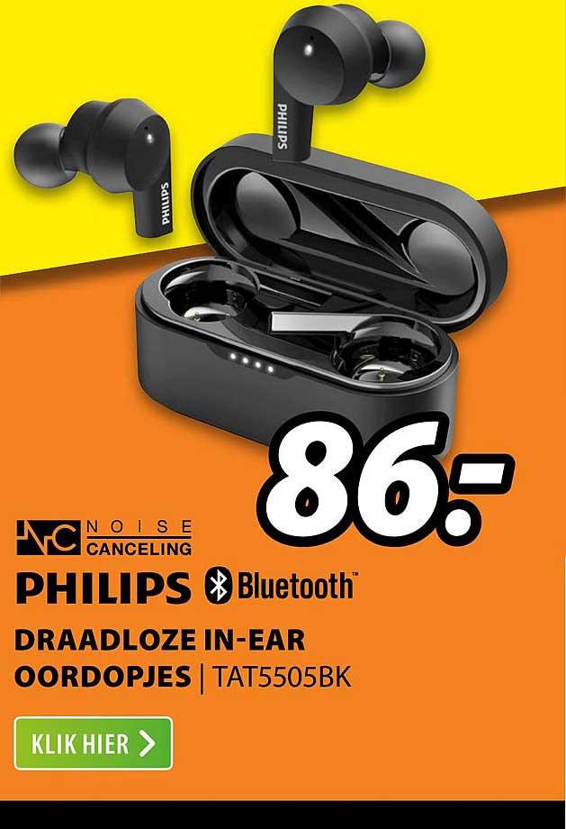 Expert Philips Draadloze In-Ear Oordopjes | TAT5505BK