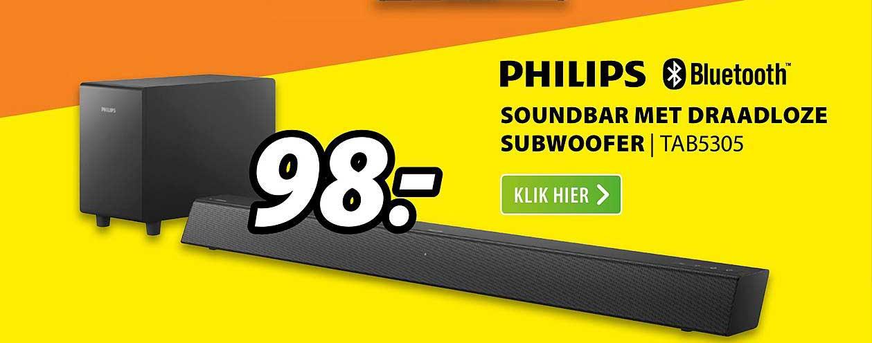 Expert Philips Soundbar Met Draadloze Subwoofer | TAB5305
