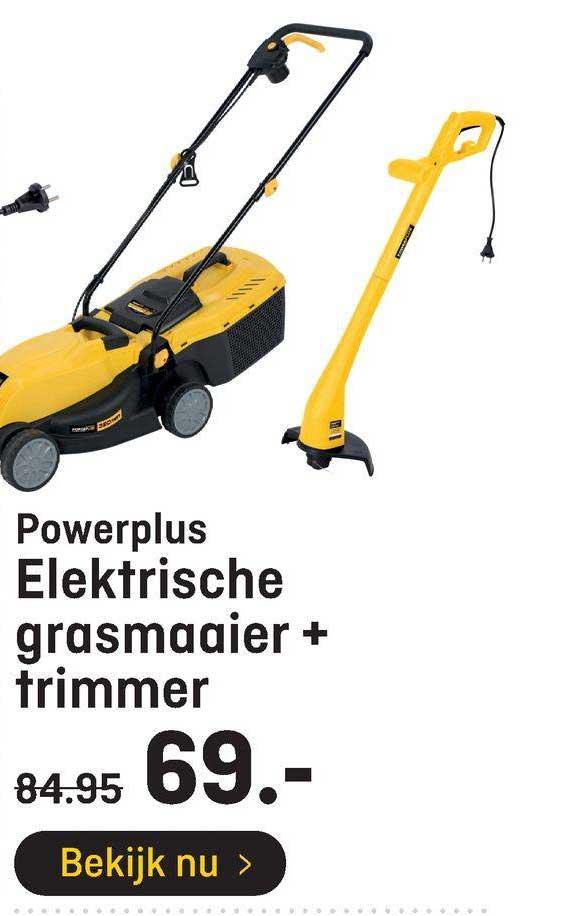 Hubo Powerplus Elektrische Grasmaaier + Trimmer