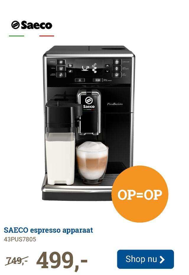 BCC Saeco Espresso Apparaat 43PUS7805