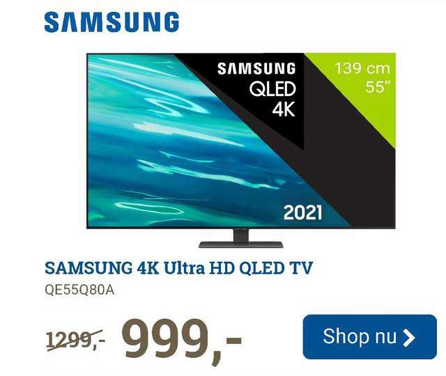 BCC Samsung 4K Ultra HD QLED TV QE55Q80A