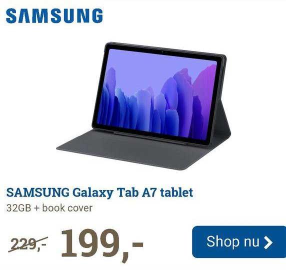 BCC Samsung Galaxy Tab A7 Tablet 32GB + Book Cover
