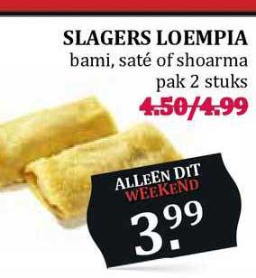 MCD Supermarkt Slagers Loempia Bami, Saté Of Shoarma