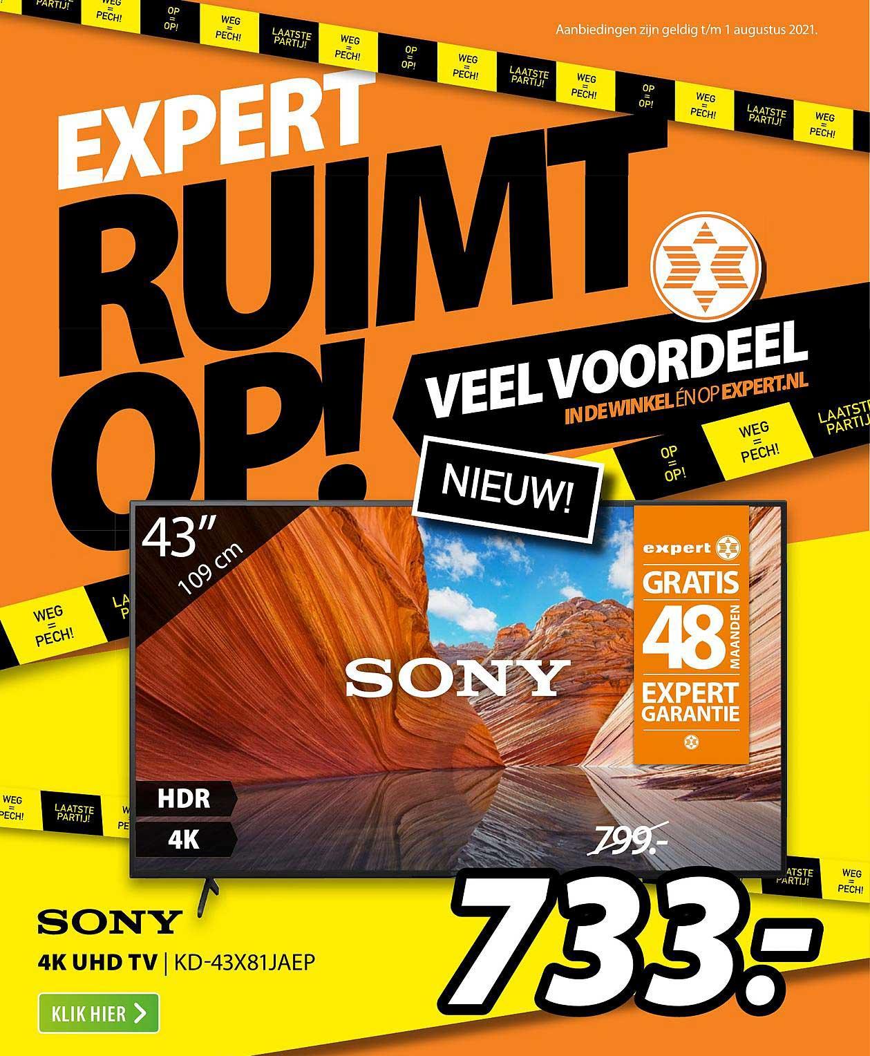 Expert Sony 4K UHD TV | KD-43X81JAEP