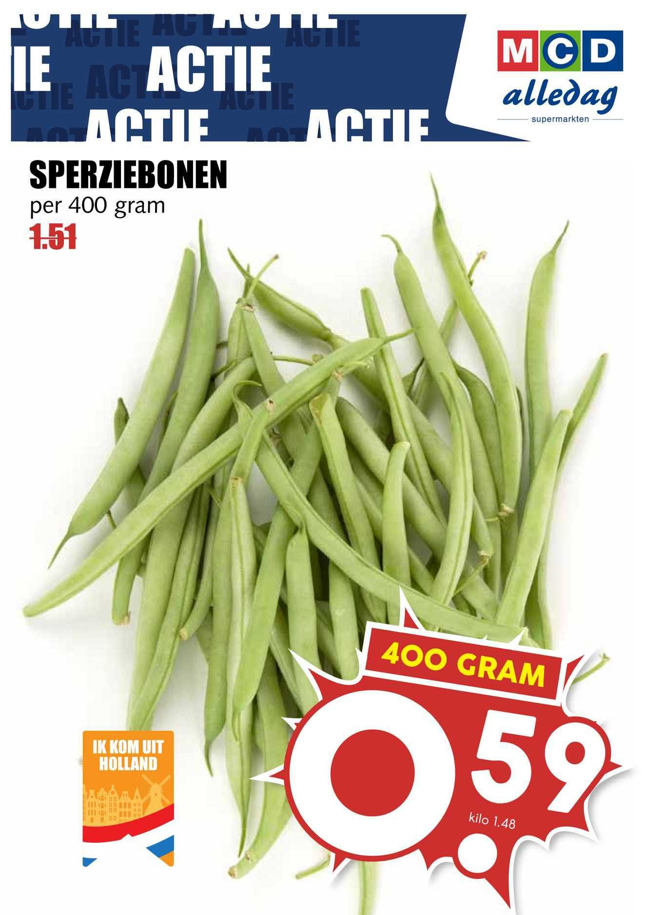 MCD Supermarkt Sperziebonen