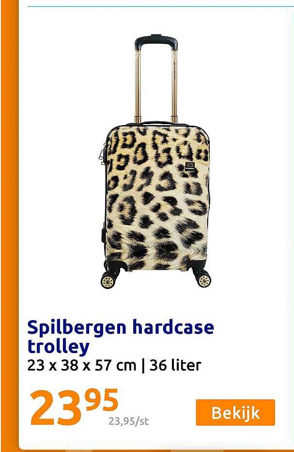 Action Spilbergen Hardcase Trolley 23 X 38 X 57 Cm
