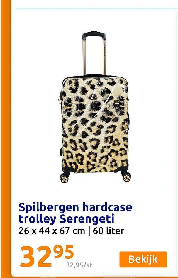 Action Spilbergen Hardcase Trolley Serengeti 26 X 44 X 67 Cm