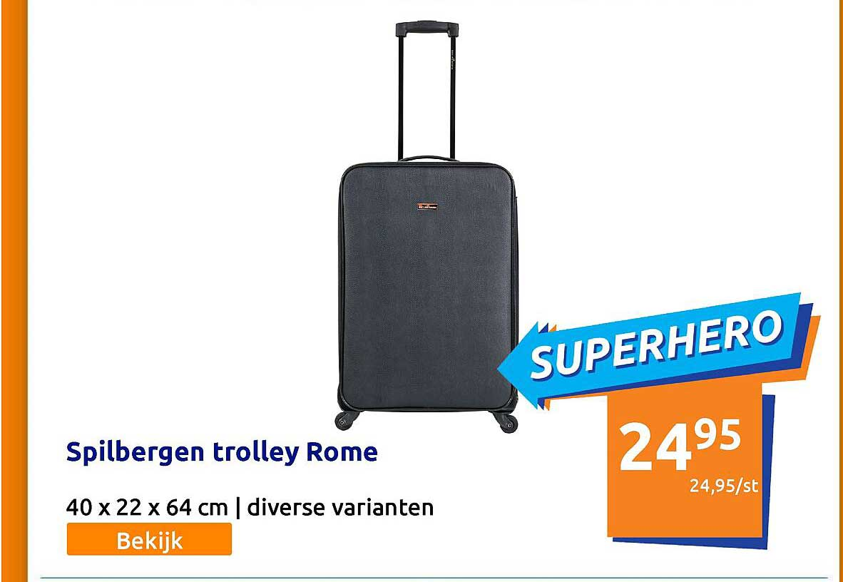 Action Spilbergen Trolley Rome 40 X 22 X 64 Cm