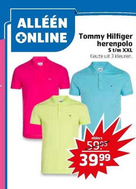 Trekpleister Tommy Hilfiger Herenpolo S T-m XXL