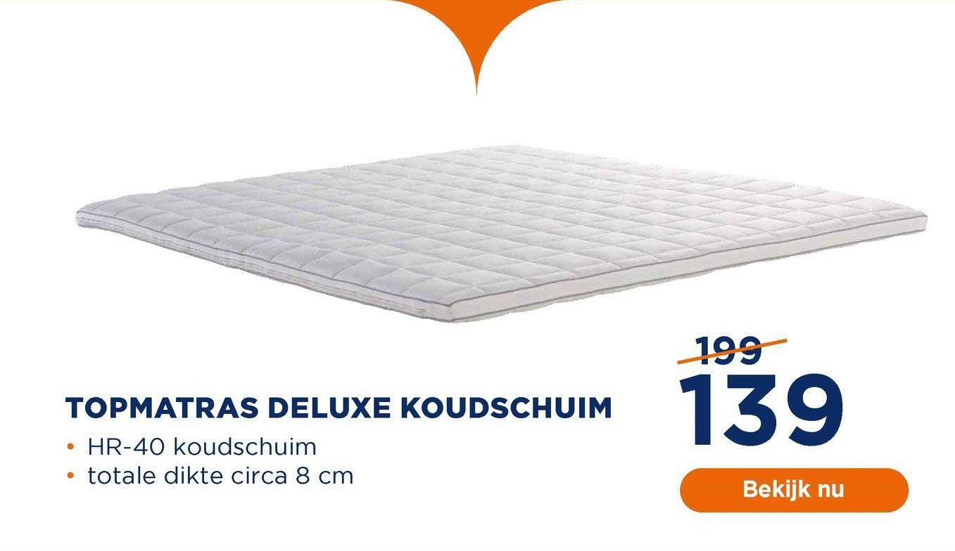 TotaalBED Topmatras Deluxe Koudschuim