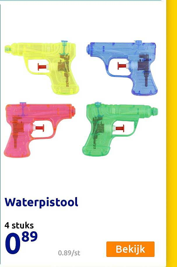 Action Waterpistool 4 Stuks