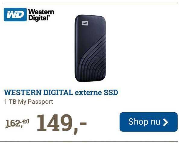 BCC Western Digital Externe SSD 1 TB My Passport