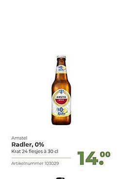 Bidfood Amstel Radler, 0%