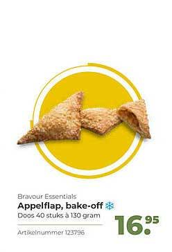 Bidfood Bravour Essentials Appelflap, Bake-Off